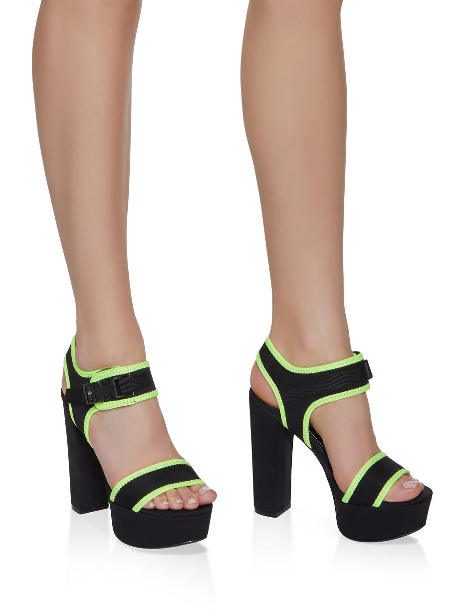 6bbd7868a02 Sporty Platform Contrast Trim Block Heel Sandals
