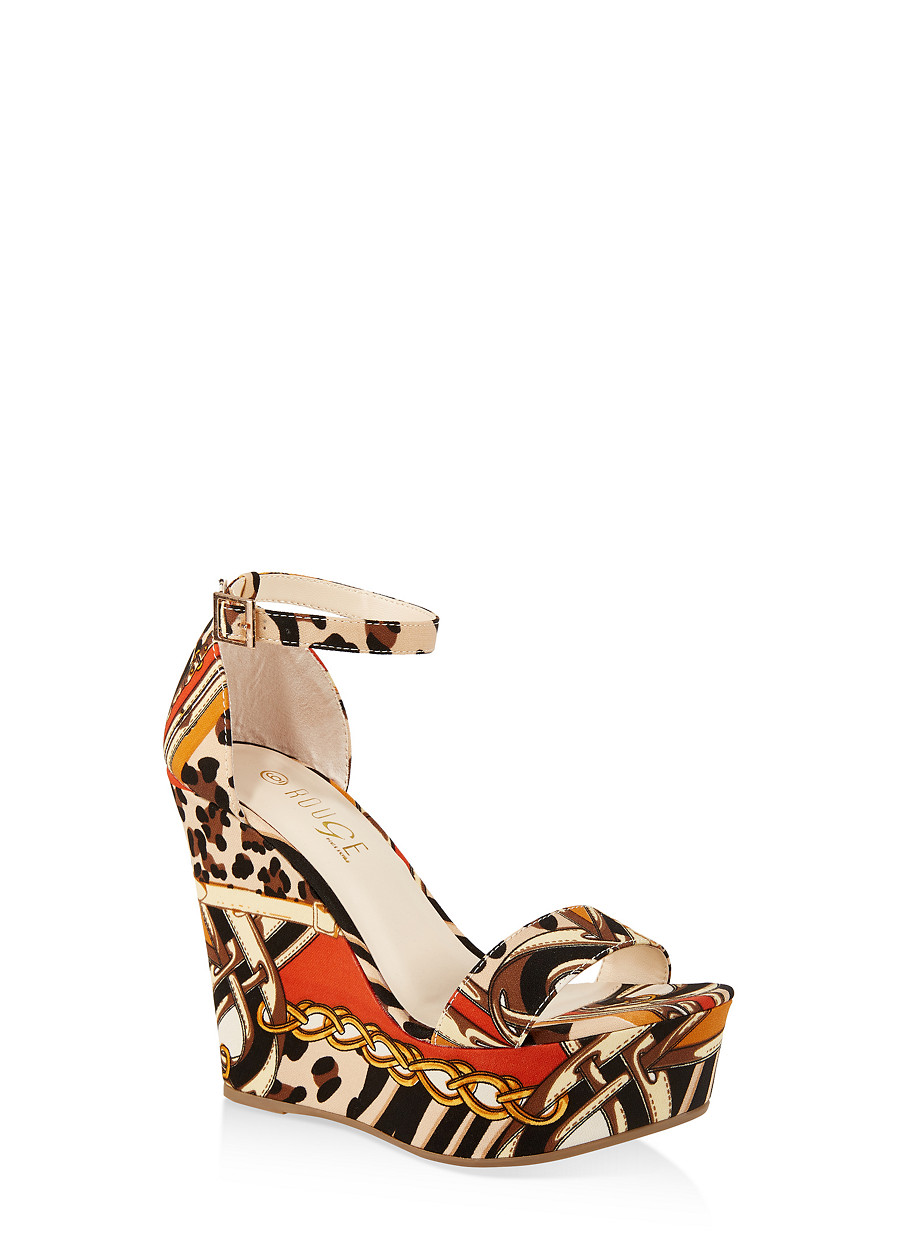 ab4d0325fb Ankle Strap Wedge Sandals | 3117004062464 - Rainbow