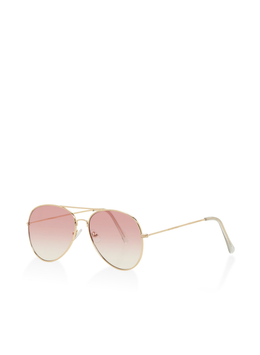 Charmant ... Top Bar Aviator Sunglasses,PINK,large