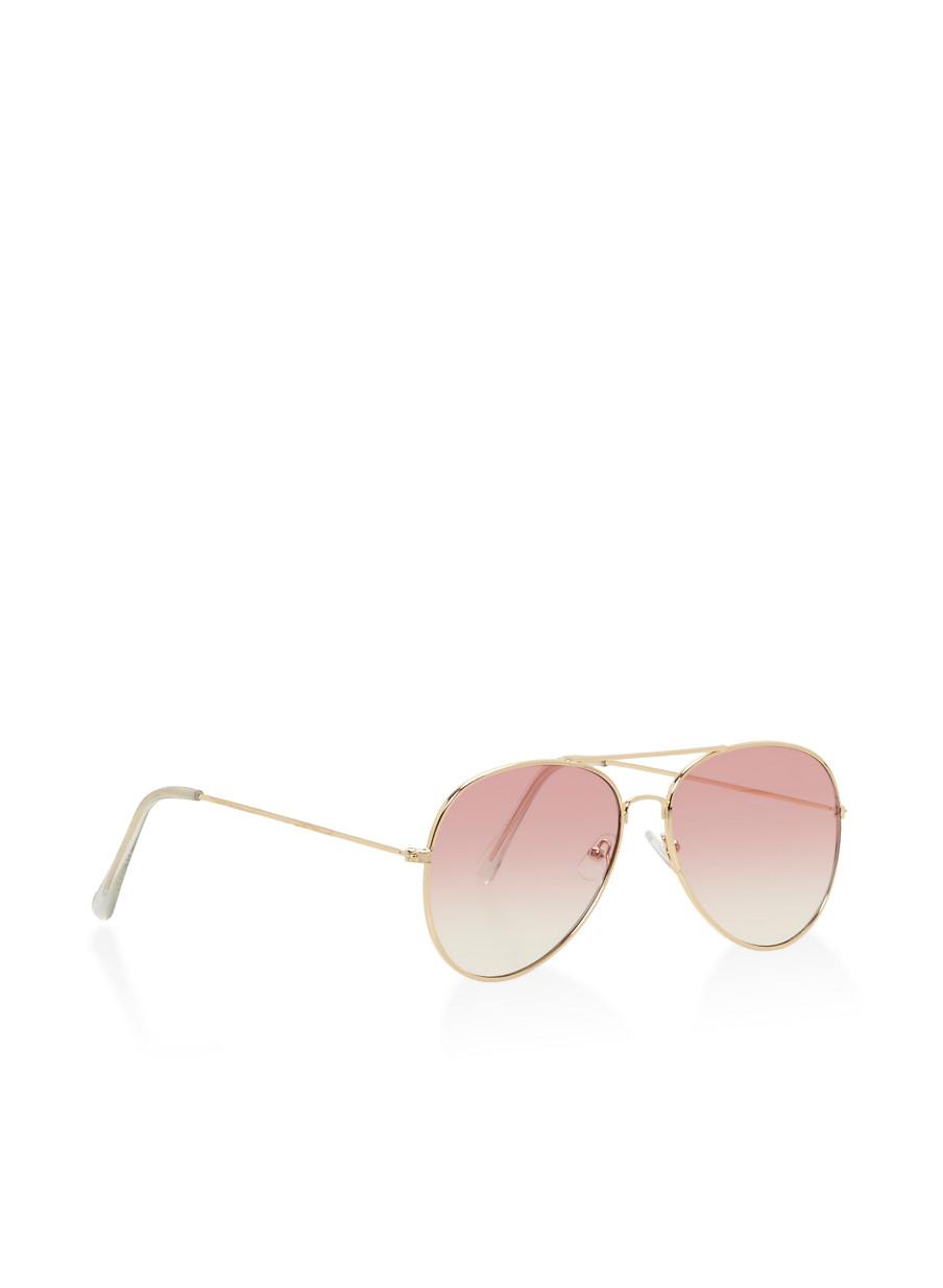 ... Top Bar Aviator Sunglasses,PINK,large