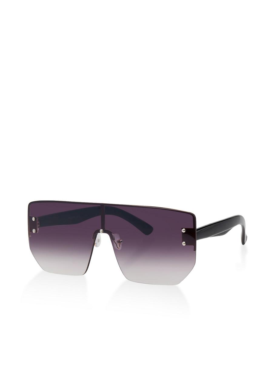 fc2350b08 Studded Rimless Shield Sunglasses - Rainbow