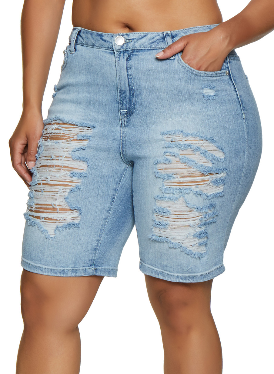 Shorts Denim Almost Famous Plus Bermuda Size Destruction roQCBeWdx