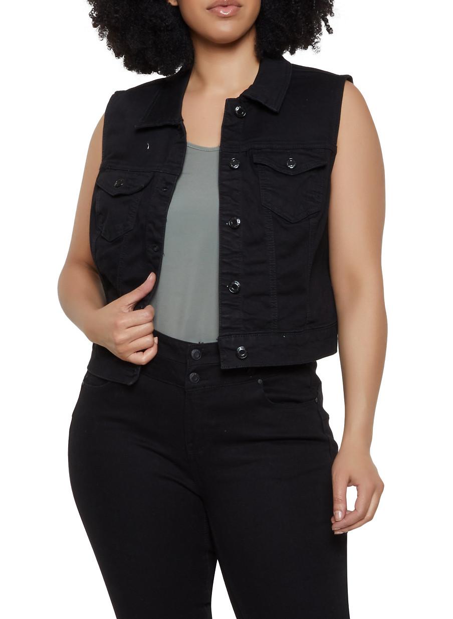 e2f0a1aae Plus Size WAX Jean Vest - Rainbow