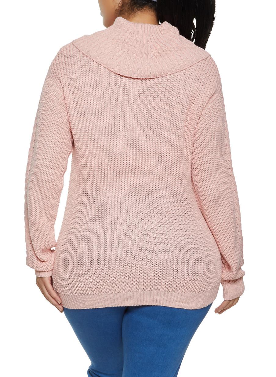 Plus Size Cowl Neck Sweater