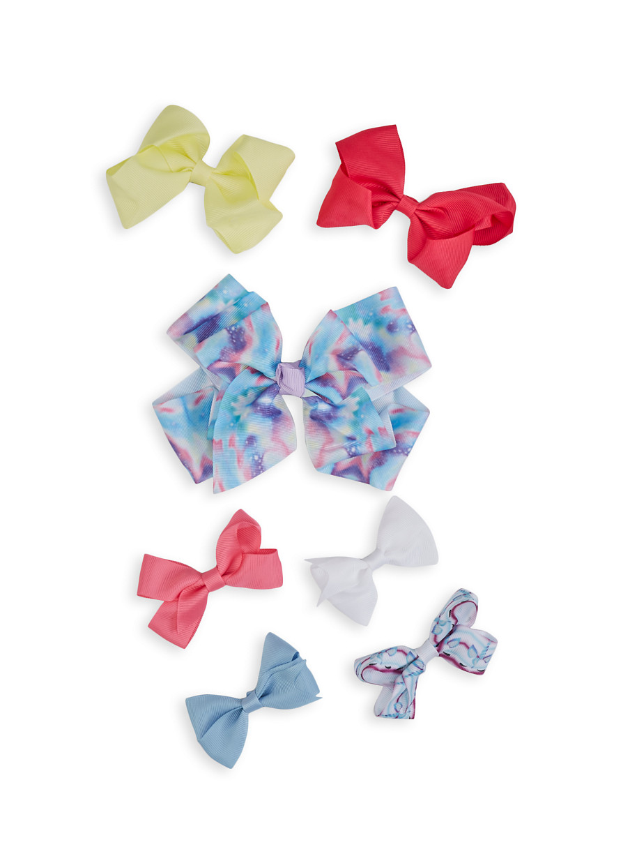 Hair Clip With Bow For Girls Colorful Hair Accessory Colors 19 With N4D8