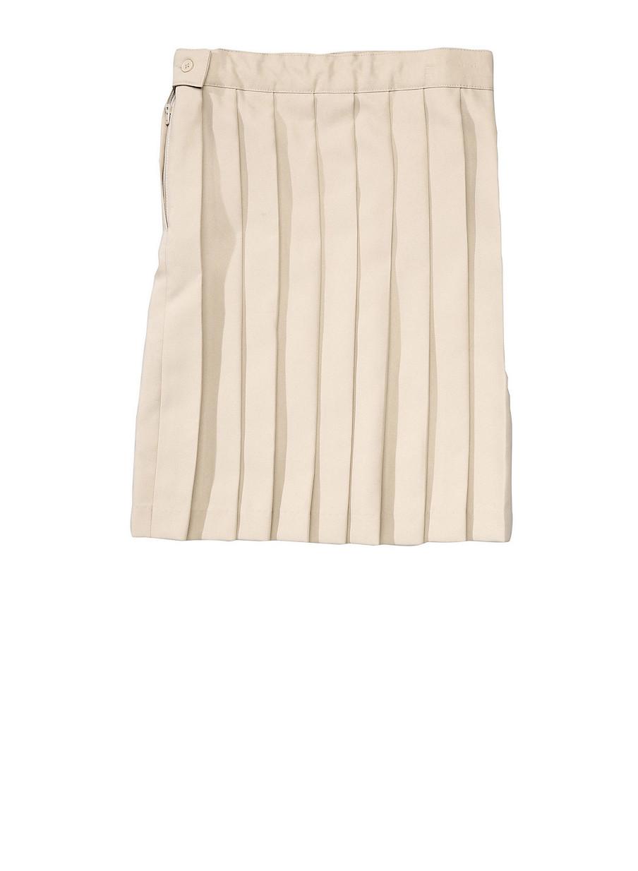 45f5b3efb0 Girls 7-14 Below the Knee Pleated Skirt School Uniform - Rainbow