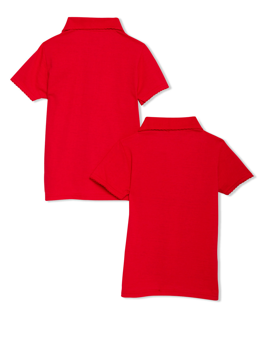 f751c7d01 Girls 4-6x Short Sleeve Polo - 2 Pack - School Uniform