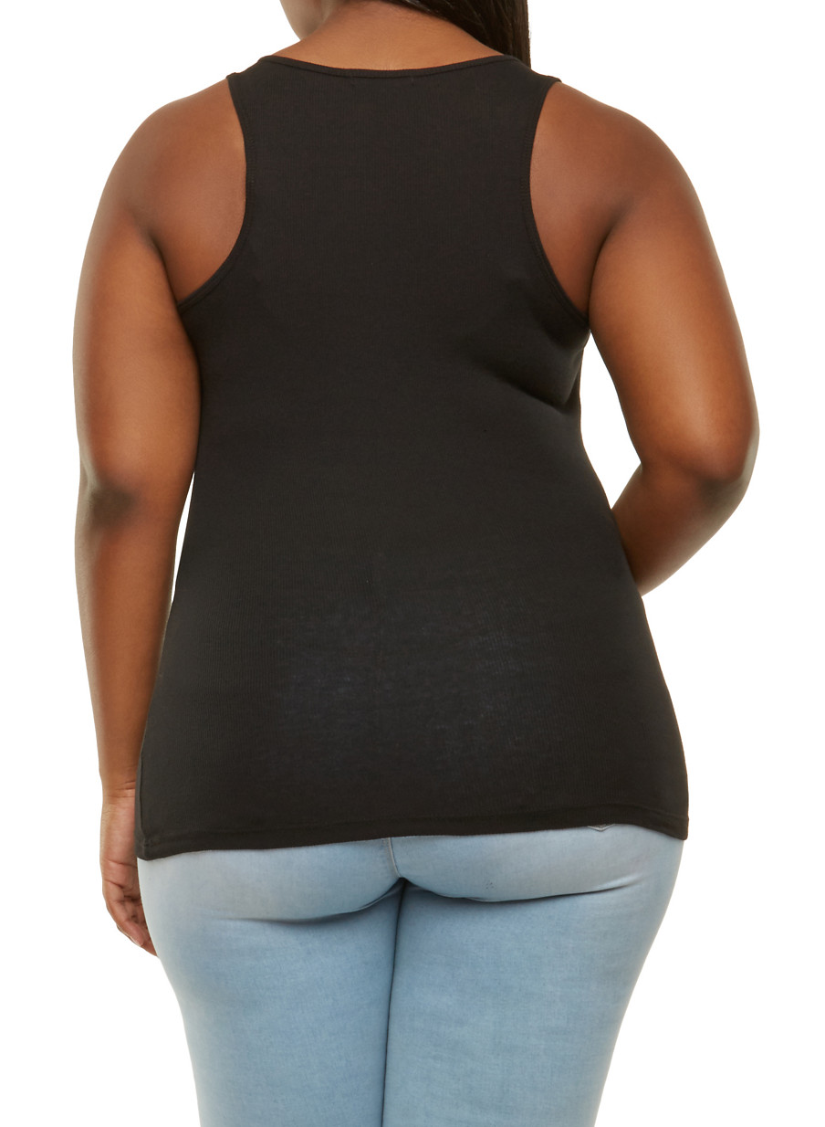 5748c1ec1ee Plus Size Ribbed Knit Tank Top