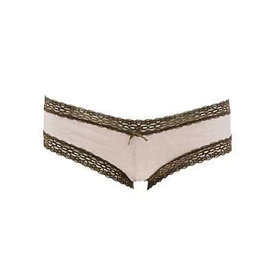 Lace-Trim Lace-Up Cheeky Panties