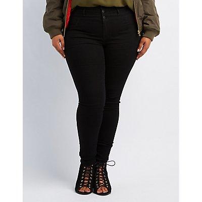 Plus Size Refuge Hi-Waist Super Skinny Jeans