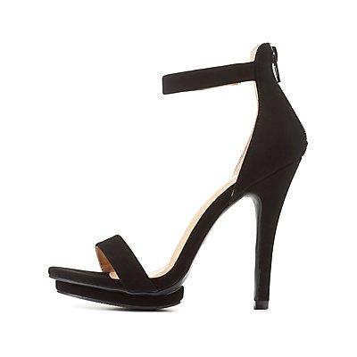 Two-Piece Mini Platform Dress Sandals