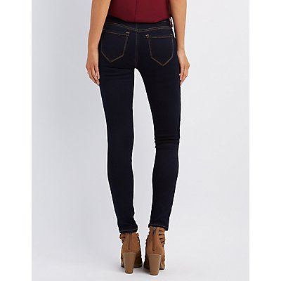 Refuge Skin Tight Legging Dark Rinse Jeans