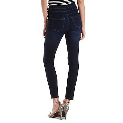 Refuge Hi-Waist Super Skinny Dark Wash Jeans