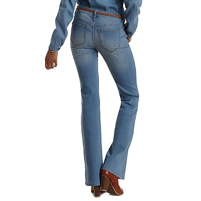 Refuge Flare Light Wash Denim Jeans