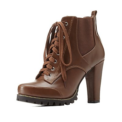 Lug Sole Side-Gored Combat Booties