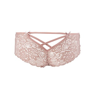 Caged Lace-Back Cheeky Panties