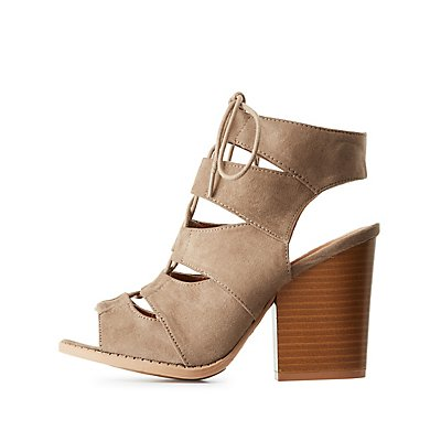 Chunky Lace-Up Sandals