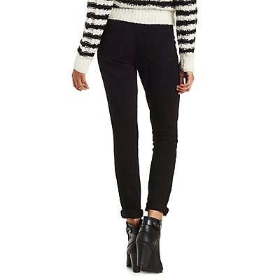 Refuge Button-Up High Rise Skinny Jeans