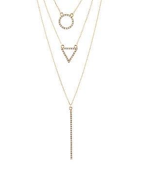 Embellished Shape Layered Necklace