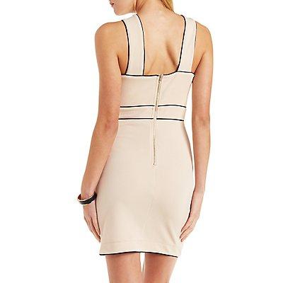 Textured Crisscross Sheath Dress