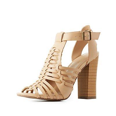 Chunky Heel Huarache Sandals