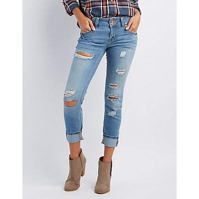 "Refuge ""Crop Boyfriend"" Jeans"