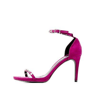 Qupid Studded Dress Sandals