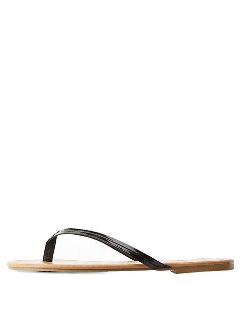 409ab9d49f46 Seamed Thong Sandals