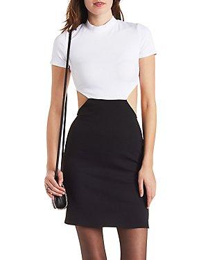 Color Block Cut-Out Bodycon Dress