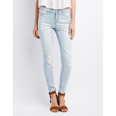 Refuge Skin Tight Legging Light Wash Jeans