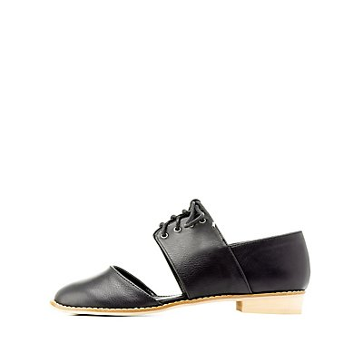 Lace-Up Cut-Out Oxfords