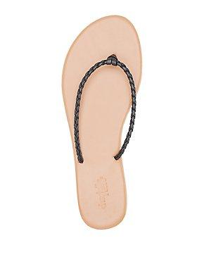 Braided Strap Flip Flop Sandals