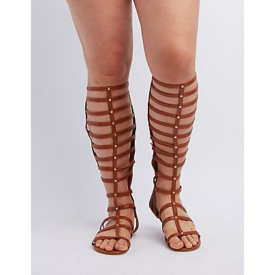 Wide Width & Calf Knee-High Gladiator Sandals