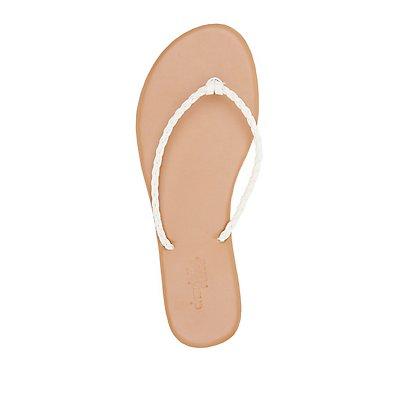 Braided Strap Thong Sandals
