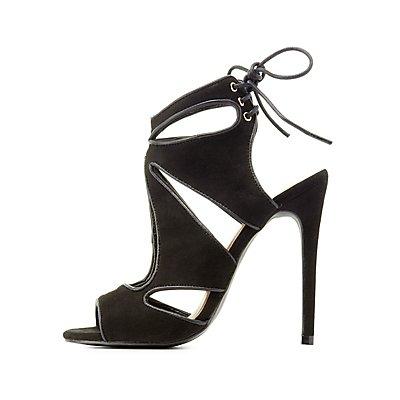 Cut-Out Lace-Up Dress Sandals