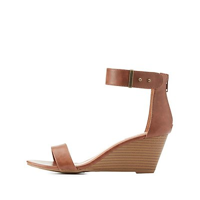 Two-Piece Wedge Sandals