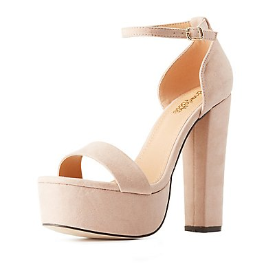 Two-Piece Chunky Platform Sandals