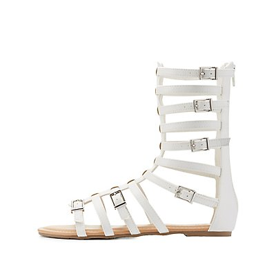 Strappy Buckled Gladiator Sandals