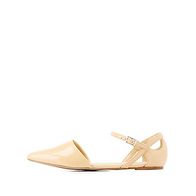 Patent Pointed Toe Flats
