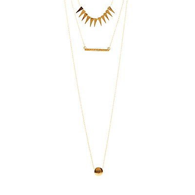 Spikes & Diamantes Layered Necklace