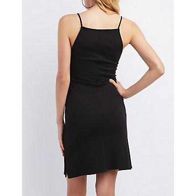 Strappy Square Neck Shift Dress