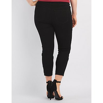 "Plus Size Refuge ""Hi-Waist Skinny"" Cropped Jeans"