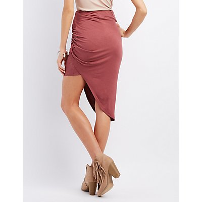 Knotted Asymmetrical Skirt