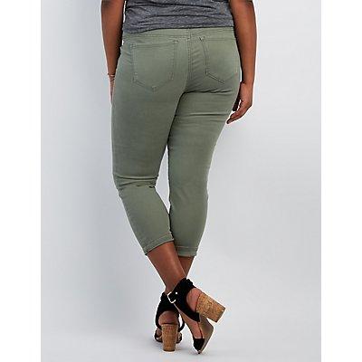 Plus Size Refuge Hi-Waist Skinny Cropped Jeans