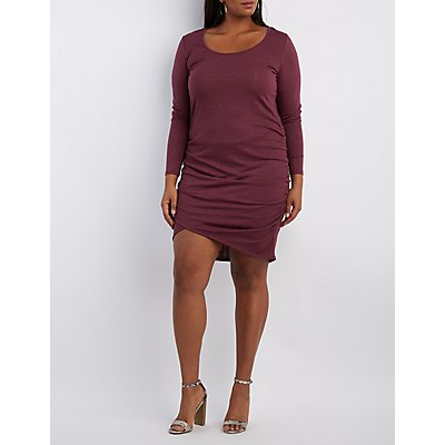 Plus Size Ruched Bodycon Dress