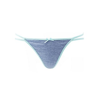 Strappy Jersey Knit Thong Panties