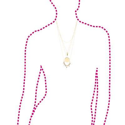 Embellished Burst Layering Necklaces