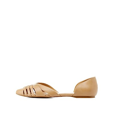 Two-Piece Pointed Toe Flats