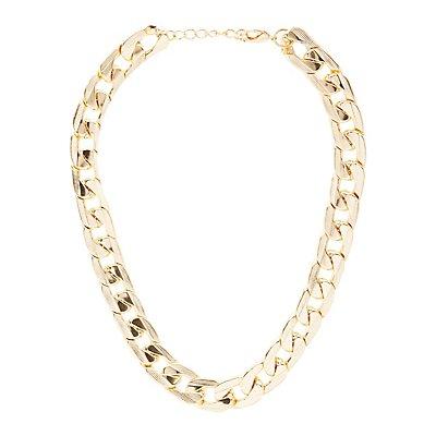 Chunky Chain Bib Necklace