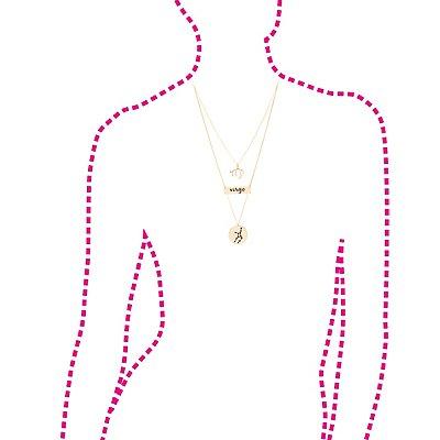 """""""Virgo"""" Astrology Necklace & Earrings Set"""